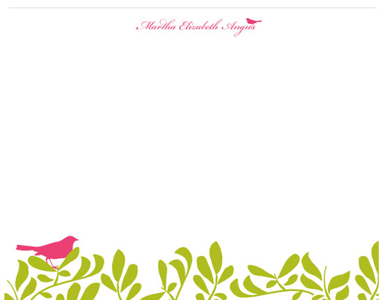 personal stationery - A Bird in the Hand is Worth... by Customized Stationary