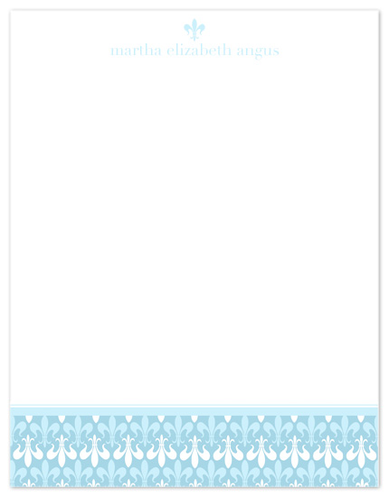 personal stationery - Fluer Blue by Far-Far Design