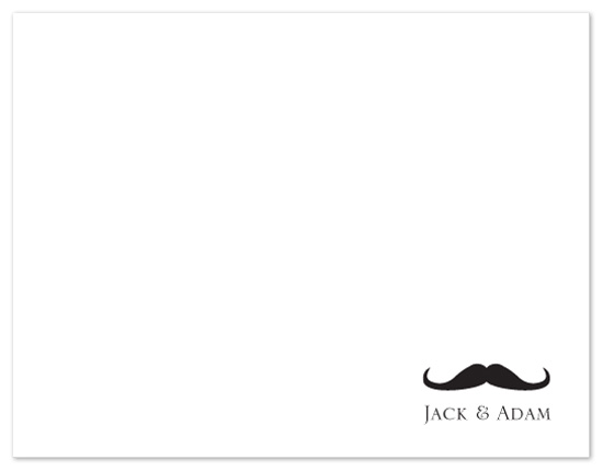 personal stationery - Mustache Mania by Cayce Cobb