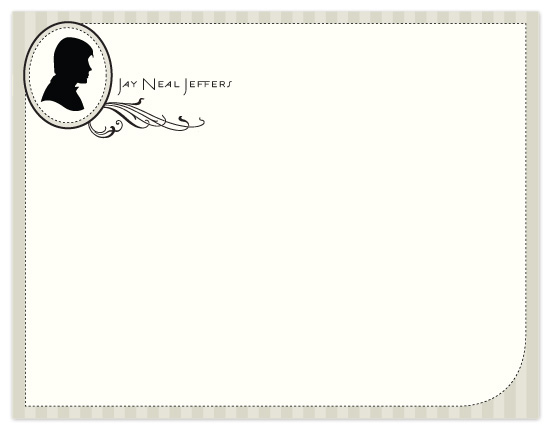 personal stationery - Stylish Sillhuette by Raquel Salaro