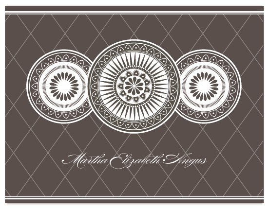 personal stationery - Ornate Plates by Coco and Ellie Design