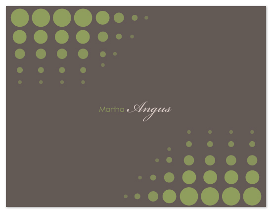 personal stationery - Trail of dots by SimpleTe Design