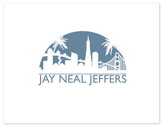 personal stationery - Blue Bay Skyline by Far-Far Design