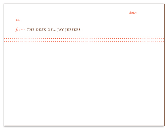 personal stationery - From the desk of... by PAPERSTUDIO