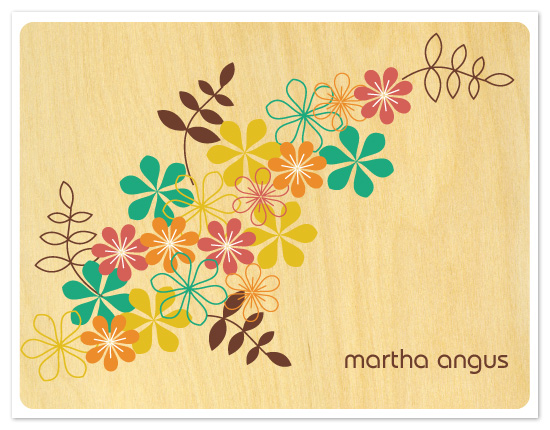 personal stationery - Mod Floral II by Coco and Ellie Design