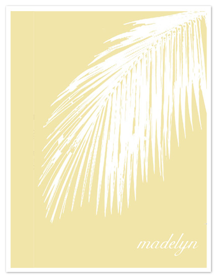 personal stationery - Soft Palm by Lacey Causseaux
