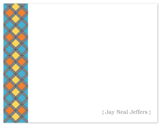 personal stationery - Squares & Diamonds by Joyful Heart Design