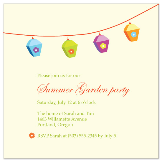 party invitations - Summer Garden party by Natti