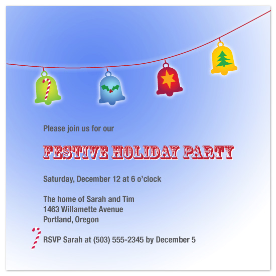 party invitations - festive  ding dong by Natti