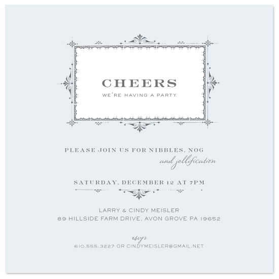 party invitations - Cheers! by Milkmaid Press