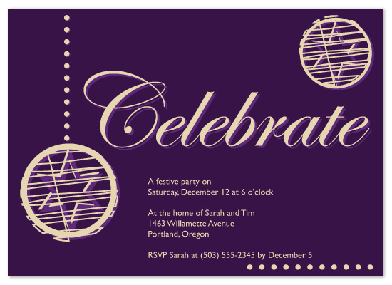 party invitations - Celebrate by Natti