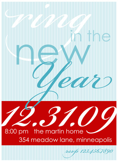 party invitations - Ring in the New Year by Customized Stationary