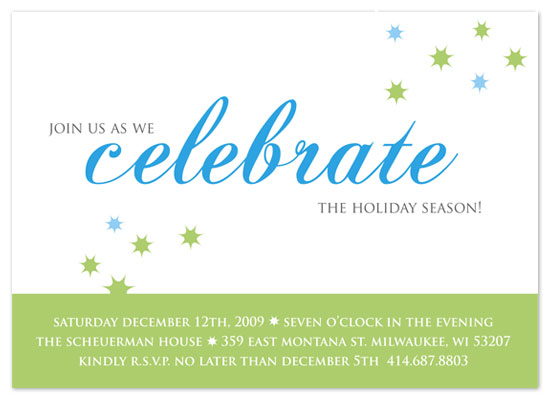 party invitations - Starry Celebration by Cracked Designs
