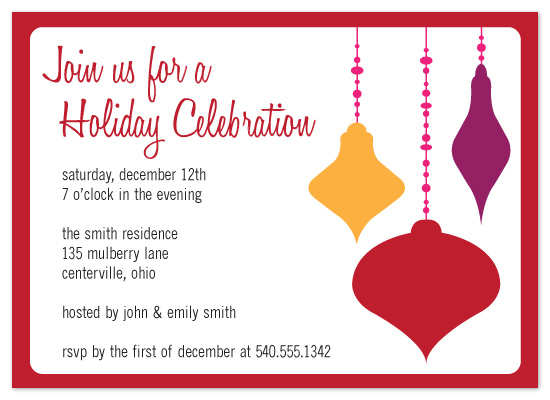 party invitations - Colorful Ornaments by chamberlain