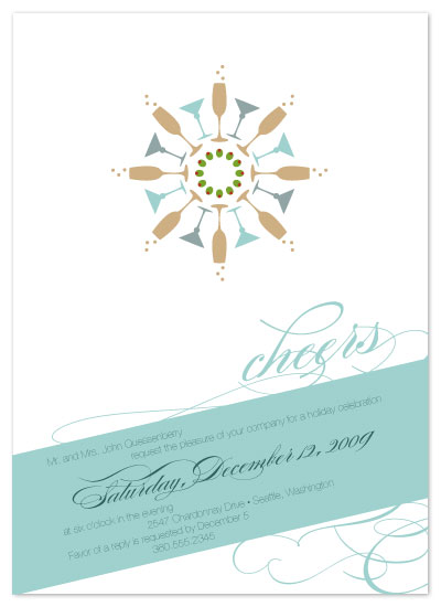 party invitations - Cocktail Snowflake by Seedlings