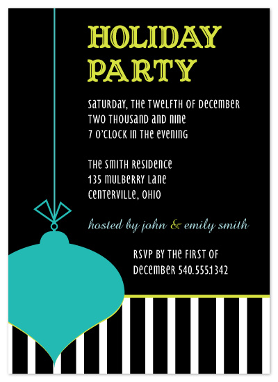 party invitations - Simply Stripes by chamberlain