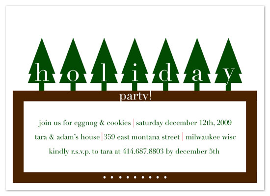 party invitations - Woodland Gathering by Cracked Designs