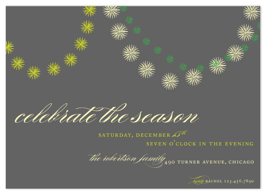 party invitations - celebrate the season by sweet street gals