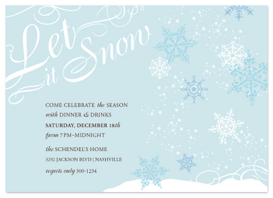 party invitations - let it snow winter party at minted, Party invitations