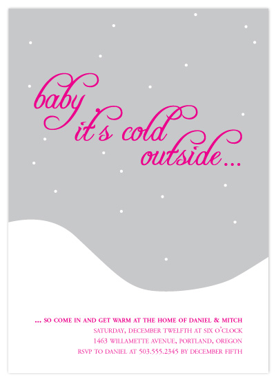 party invitations - baby it's cold outside by emily koehler