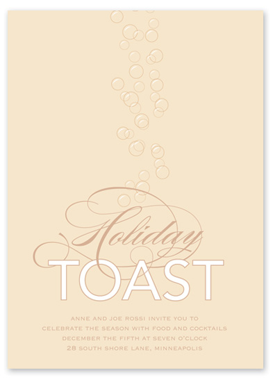 party invitations - Champagne Toast by Jessica Tree