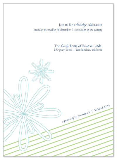 party invitations - Swanky Snowflakes by idieh | design
