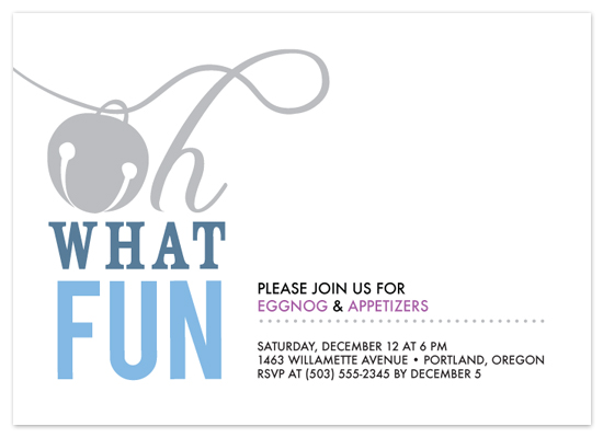 party invitations - Oh What Fun by Frooted Design