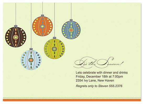 party invitations - Decorative Ornaments by lauren mummé