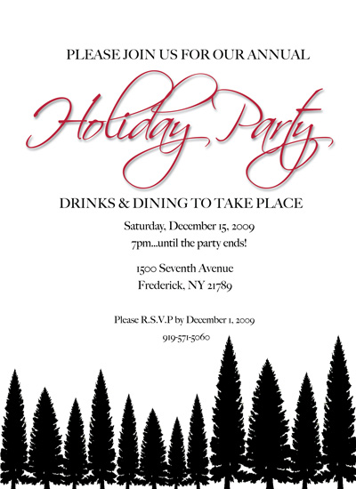 party invitations - Evergreen Dreams by Megan Hobson