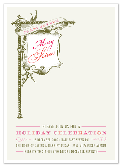 party invitations - float + merry soiree by Float Paperie