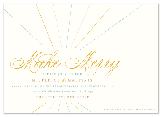 party invitations - float + make merry by Float Paperie
