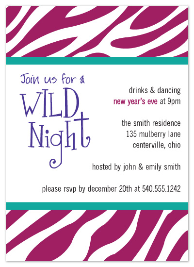 party invitations - Wild Night by chamberlain