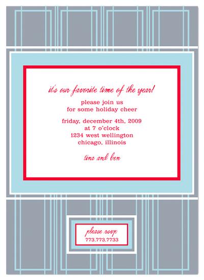 party invitations - frank lloyd modern holiday by pinkeye design