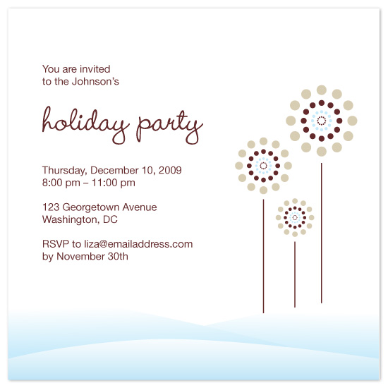 party invitations - Snowy Bloom by Poopak