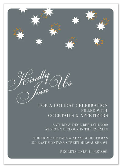 party invitations - Star Filled Soiree by Cracked Designs