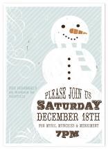 Retro Snowman Invite by Rachael Schendel