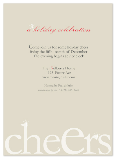 party invitations - cheErs by SimpleTe Design