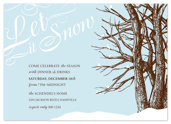 party invitations - Let it Snow Holiday Party by Rachael Schendel