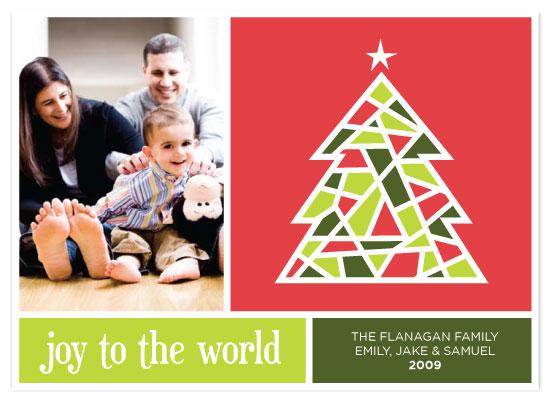 holiday photo cards - Mosaic Tree by Three Kisses Studio