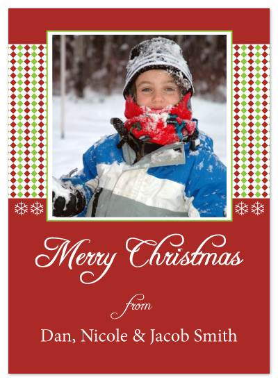 holiday photo cards - Christmas Diamonds by chamberlain
