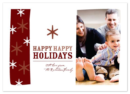 holiday photo cards - Happy Happy Holidays by Tina Swanson