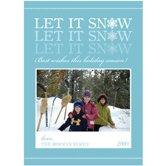holiday photo cards - Let it snow by Paperview Designs