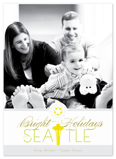 holiday photo cards - Bright Holiday Wishes by Push Papers