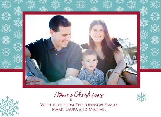 holiday photo cards - Falling Snowflakes by Customized Stationary