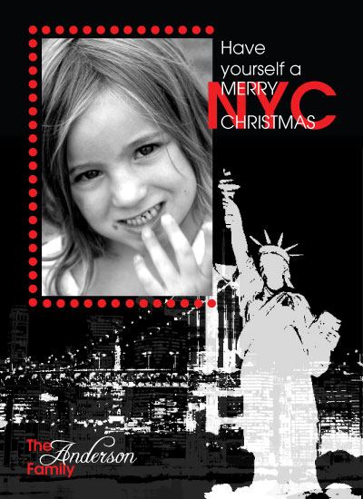 holiday photo cards - Merry New York Christmas by Christy White