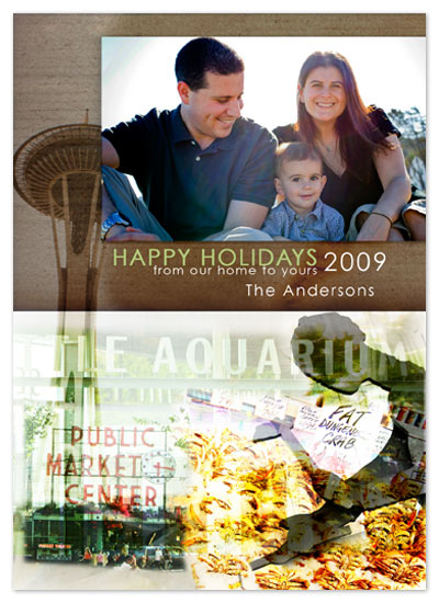 holiday photo cards - Seattle Collage by Wendy Morales