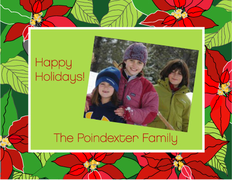 holiday photo cards - Poinsettia Greetings by Dan H.
