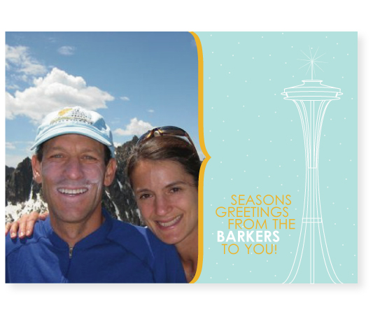 holiday photo cards - space needle by Marabou Design