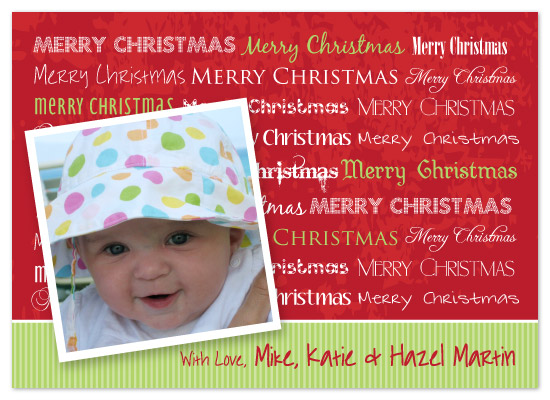 holiday photo cards - Many Merry Christmases by chamberlain