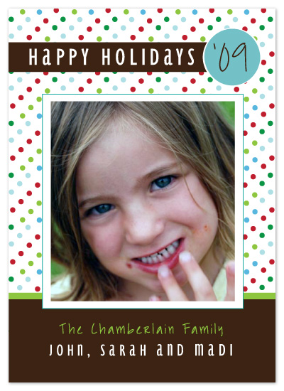 holiday photo cards - Happy Holi-Dots by chamberlain